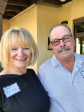 Jody and John Burdick, formerly of California, enjoy golf, pickleball, woodworking, and glass works. They are eager to get to know their neighbors in Unit 17.