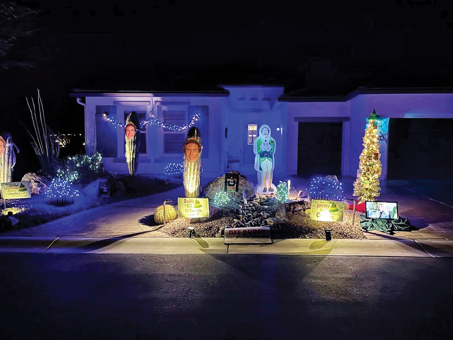 Winner of the Funniest House lighting display (Tim and Julie Malone)