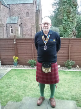 Bob Ellis, president of the Rotary Club of Blairgowrie, Scotland