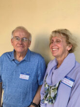 David and Linda Daubers from the Denver area enjoy pickleball, golf, and book clubs. They are comfortably at home in Unit 10.