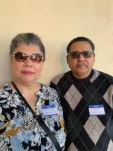 Myriam and Carl Barthole from New Jersey, followed their daughter who lives in Tucson. She recommended SBR for its good reputation and they loved the models. They are in Unit 17 and enjoy tennis, bocce ball, mahjong, and writing groups.