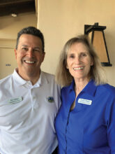 Rob and Carole Ortega have settled in Unit 1 from California. Carole loves horses, dogs, and working out in the Fitness Center. Rob enjoys golf, pickleball, and woodworking.