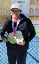 Bronze medal winner Anna Ung