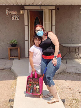 In 2020, a Mammoth-San Manuel Unified School District teacher delivered instructional materials to a student enrolled in the summer school and enrichment program.