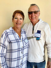 Linda and Randy Wright from Lake Havasu enjoy pickleball, walking, swimming, and ballroom dancing. They are at home in Unit 8.