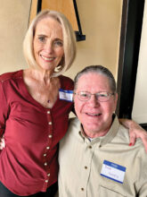 Sandi and Rick Landis are at home in Unit 46A after spending 42 years in Sierra Vista, where he was a coach. While Sandi enjoys playing tennis, Rick has a great story about himself as a tennis coach. You must ask him about it.