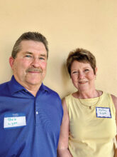 Bob and Kathy Lyon are snowbirds from Iowa. Kathy is here to enjoy the amenities. Bob is drawn to golf, the fitness center, and pool. They live in Unit 4B.