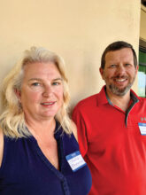 Julie and Lonnie Pederson love the warm weather compared to their former home in Iowa. While Julie enjoys the pool and making jewelry, Lonnie plays golf with his brother who lives two doors away. They are at home in Unit 46B.
