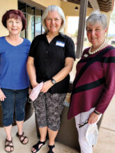 Volunteers Linda Newton, Doris Carlin, and Linda Harvey