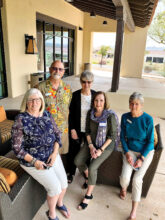 Volunteers Deb Sandin, Pete Watson, Sandy Getter, Judy Fisher, and Vicki Warning