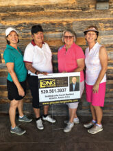 Third flight winners: Marge Rodgers, Linda Sherfy, Marci Whitehead, and Toni Graves