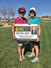 Sudden death playoff competitors Judy Callahan and Susan Ness