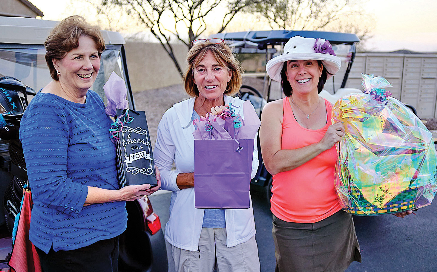 Janelle Authur, Marci Whitehead, and Maia Schenkel were the Unit 8A winners. (Photo by Bob Authur)