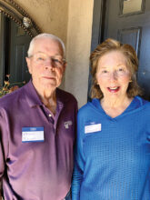 Chuck and Susan Knight, recently from the Pacific Northwest, are now at home in Unit 46A. They love the out-of-doors and plan to take up bocce ball and pickleball. Susan is part of the Lady Niners. She sews, knits, and loves walking.