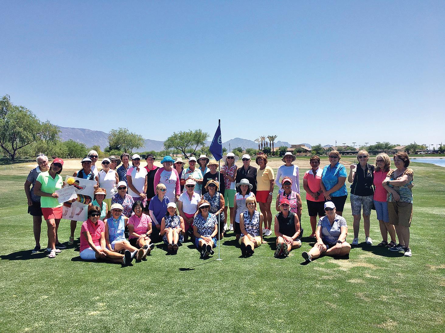 The ladies of SBRWGA celebrate Cuatro de Mayo golf together.