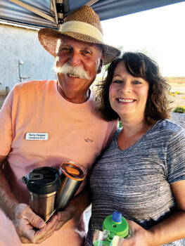 Terry Cooper and Jackie Lincoln, residents