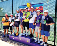 Gold: Jim Grady and Gil Logan Silver: Keith Miller and Pat Hawkins Silver: Bob Soucek and Ed Harris Bronze: Rick Rogers and Ron Green