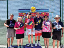 (Pool 1) Gold: David First and Tess Densmore Silver: Jim Parkinson and Toni McDole Bronze: Robert Page and Carol Henry