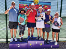 (Pool 1) Gold: Pat Hawkins and Susan Schuster Silver: Ron Green and Ginger Buetow Bronze: Jim Grady and Sally Grasso
